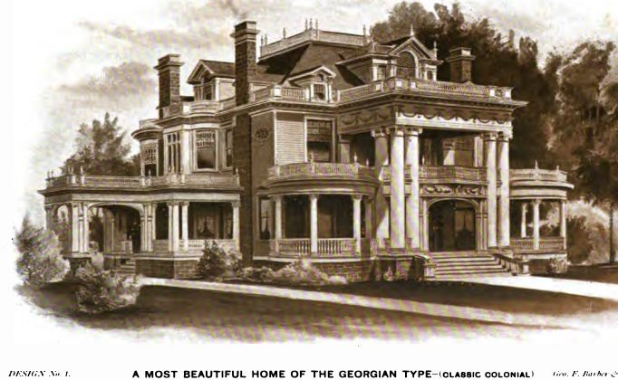 1904 Clical Revival - Maryville, MO (George F. Barber) - Old ... on 19th century mansion house plans, 18 century victorian house plans, 1890 house plans, simple small house floor plans, queen anne victorian house plans, 1952 house plans,