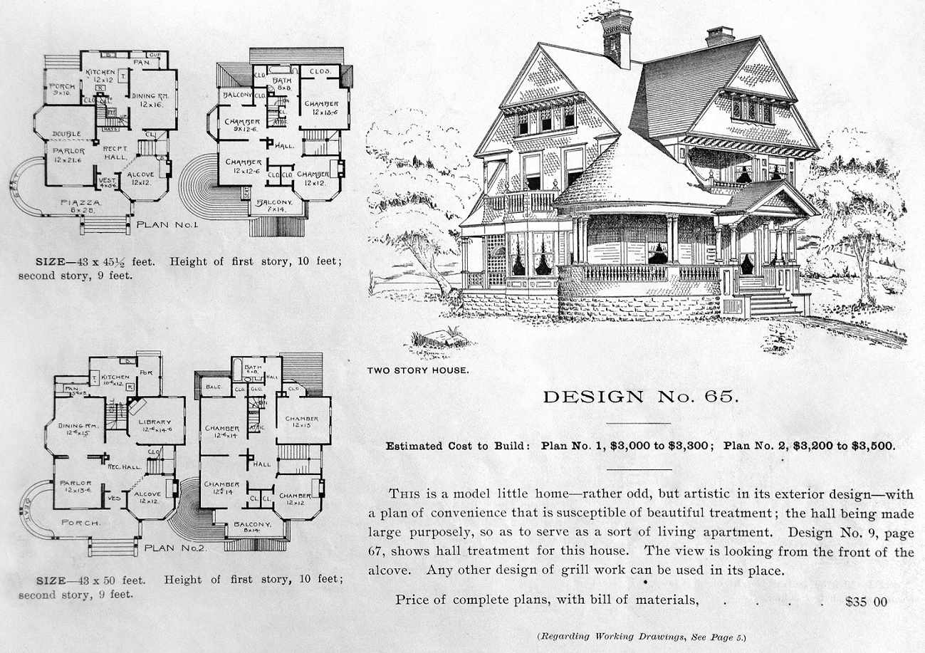 Roller skating rink queen anne - George F Barber S Rendering Of This House Plan Not Of This Actual House See Comments