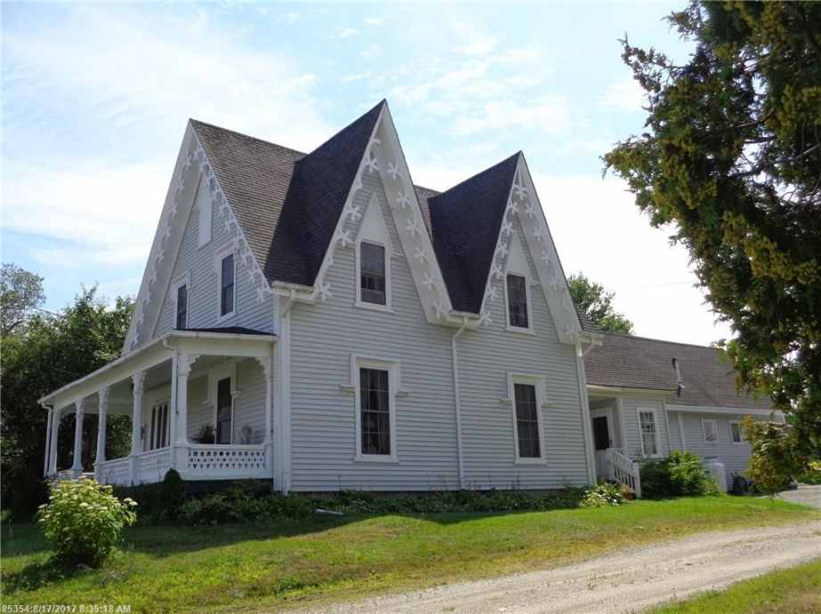 Gothic Revival Homes 1856 gothic revival - harrington, me - $174,000 - old house dreams