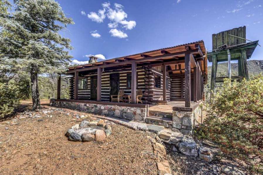 cabins private acreage on remodeled vrbo clean rustic close to prescott sparkling cabin